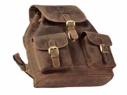 Bild von Vintage Leder Rucksack medium